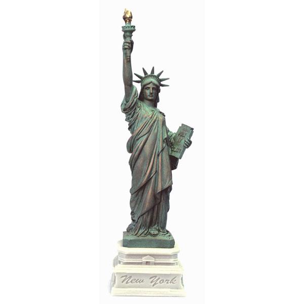 14 1/2 Inch Statue of Liberty w/ Half Base