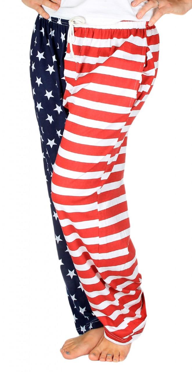 American Flag Pajama Pants - Adult Lounge Pants