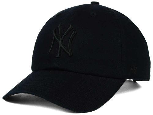 NY Yankees Black Black Clean Up Adjustable Cap 607e8e9d575