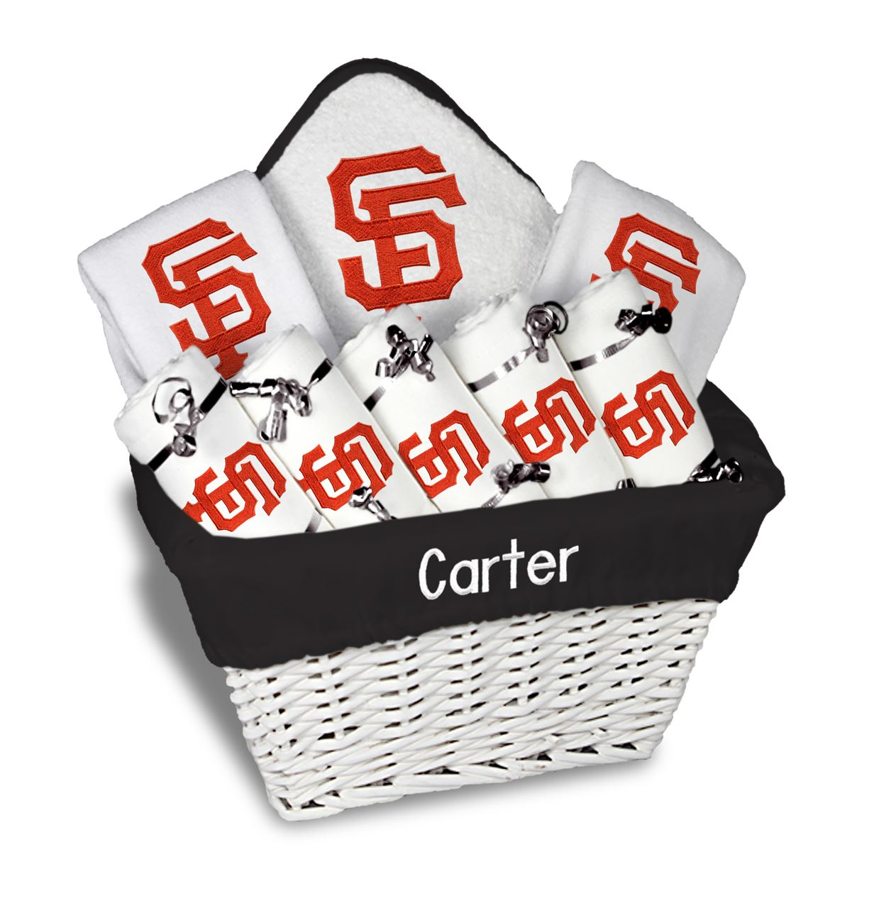 SF Giants Personalized 9-Piece Gift Basket e824cccac
