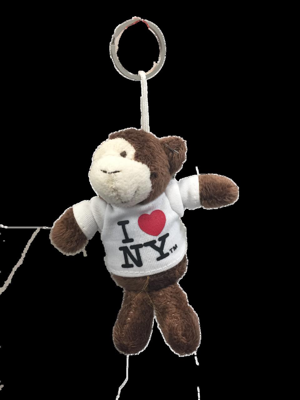 I Love NY Monkey Plush Key Chain 4b81a431981f