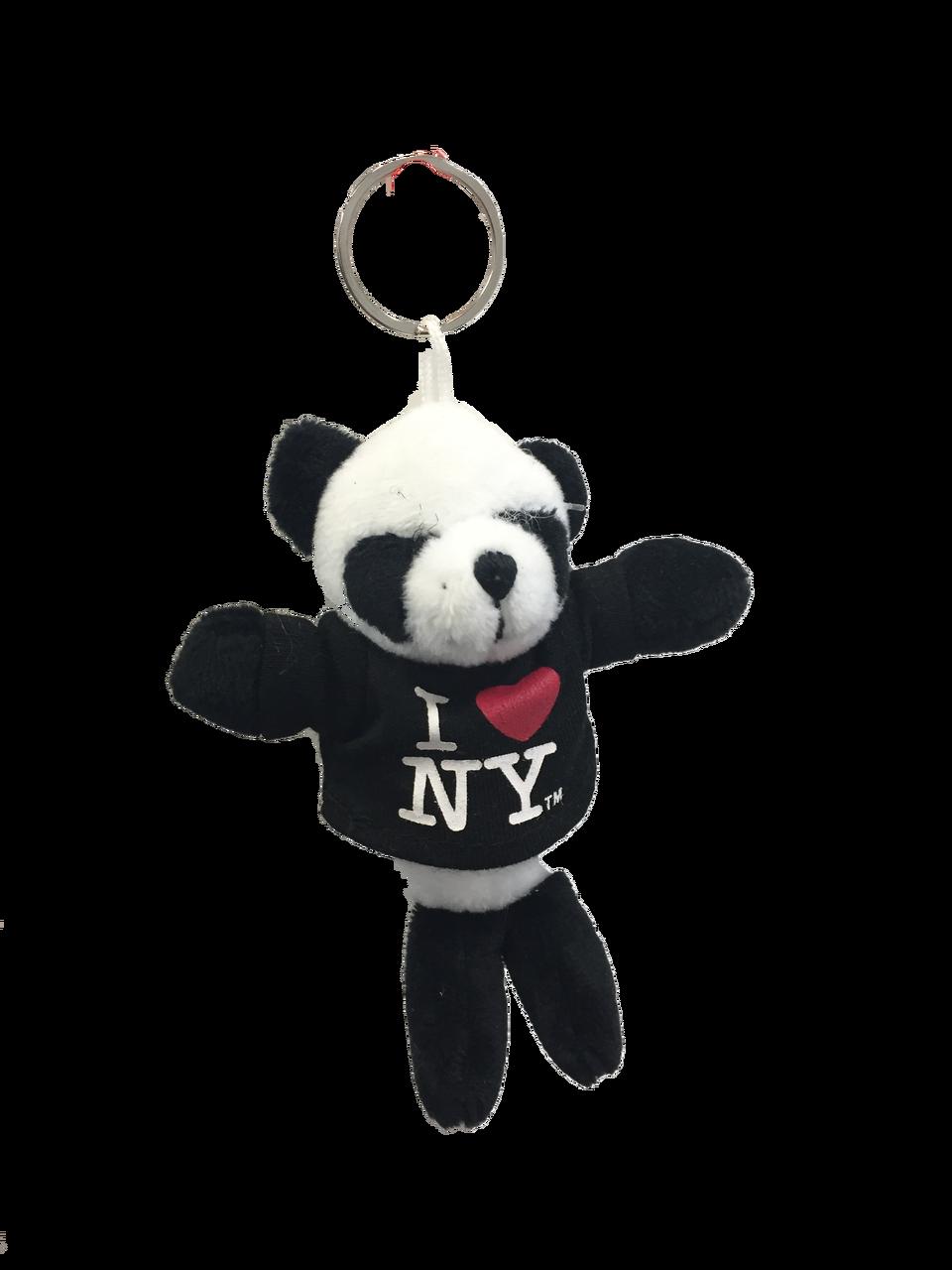 I Love Ny Panda Bear Plush Key Chain