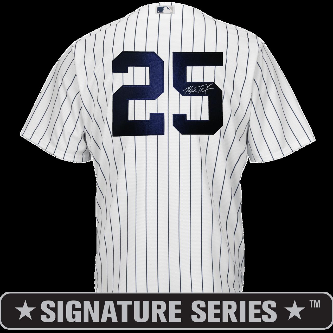 Mark Teixeira Signature Series No Name Jersey - NY Yankees Replica Adult Home Jersey