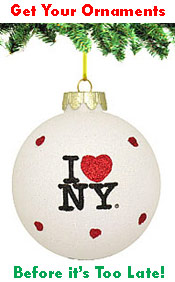 I Love NY Ornaments